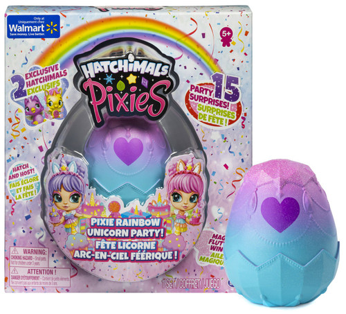 Hatchimals Pixies Pixie Rainbow Unicorn Party Exclusive Mystery Pack [2 RANDOM CollEGGtibles]