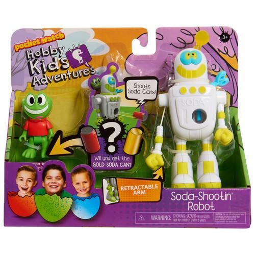 HobbyKids Adventures Soda Shootin' Robot Action Figure Playset