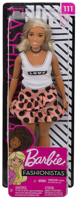 Fashionistas Barbie 13.25-Inch Doll #111 [Polka Dot Skirt & Love Tank Top]