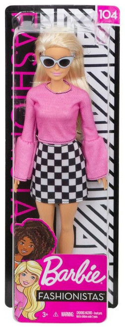 Fashionistas Barbie 13.25-Inch Doll #104 [Blonde with Checkered Skirt]