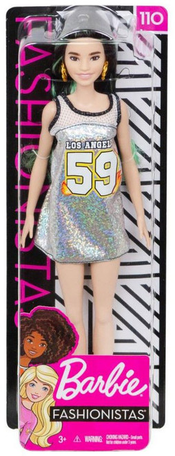 Fashionistas Barbie 13.25-Inch Doll #110 [Tall with Silver Jersey Dress]