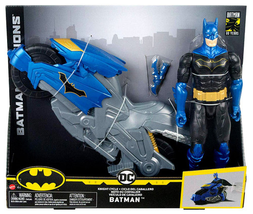 DC Batman Missions Knight Cycle Batman Vehicle & Action Figure