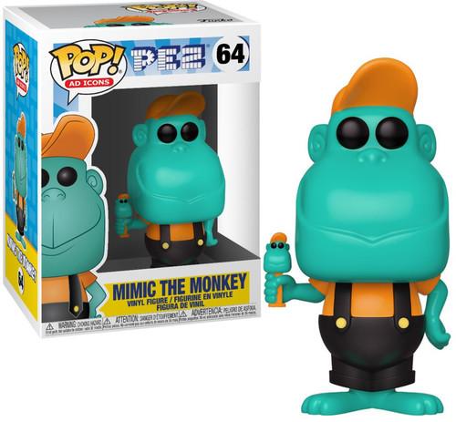 Funko POP! PEZ Mimic the Monkey Vinyl Figure #64 [Teal]