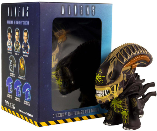Titans Alien Warrior Xenomorph Exclusive 3-Inch Vinyl Mini Figure [Bullet Damaged]