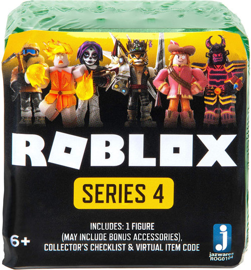 Roblox Celebrity Collection Series 4 Mystery Pack [Green Cube, 1 RANDOM Figure & Virtual Item Code]