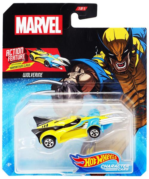 Hot Wheels Marvel Action Feature Wolverine Diecast Car #3/5 [Extending Adamantium Claws]
