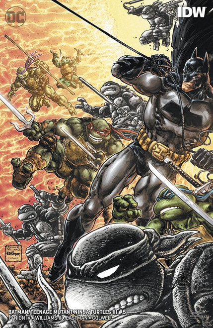DC Batman / Teenage Mutant Ninja Turtles III #5 of 6 Comic Book [Kevin Eastman, Freddie Williams II Variant Cover]