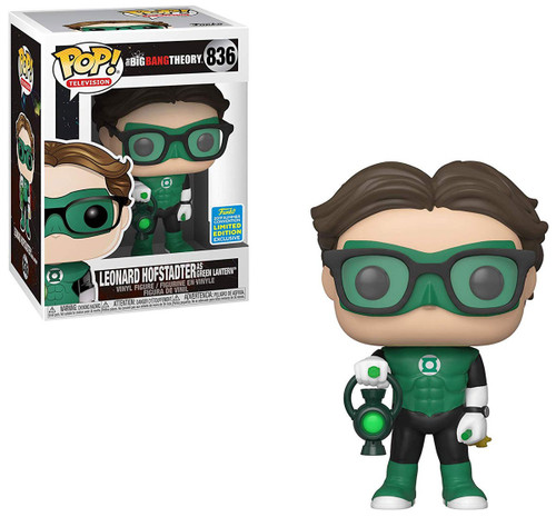Funko The Big Bang Theory POP! TV Leonard Hofstadter as Green Lantern Exclusive Vinyl Figure #836