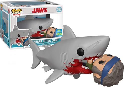 Funko Jaws POP! Movies Shark Biting Quint Exclusive 6-Inch Vinyl Figure #760