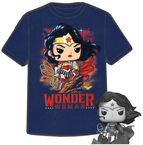 Funko DC Collection by Jim Lee POP! Heroes Wonder Woman Exclusive Vinyl Figure & T-Shirt [X-Large]