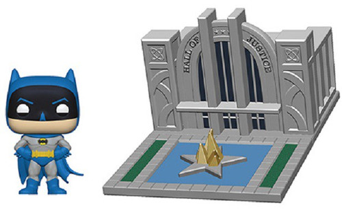 Funko 80th Anniversary POP! Town Hall of Justice with Batman Vinyl Figure Set