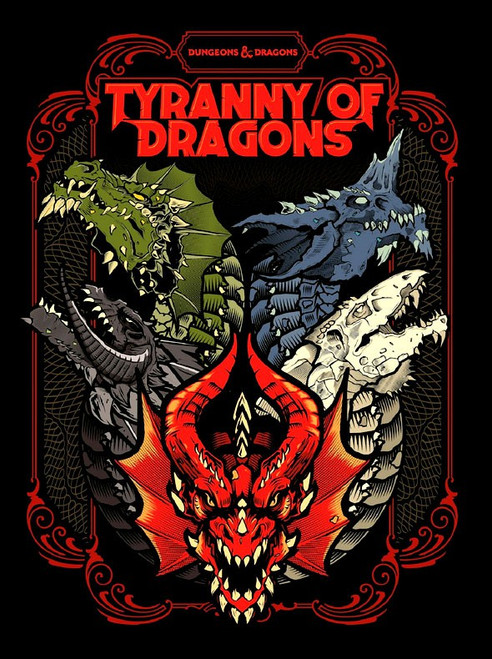 Dungeons & Dragons 5th Edition Tyranny of Dragons Hardcover Roleplaying Book [Alternate Cover]