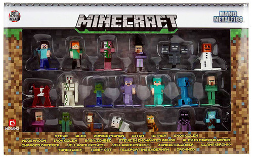 Nano Metalfigs Minecraft Diecast Figure 20-Pack [Version 2]
