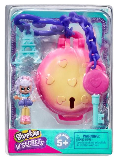 Shopkins Shoppies Lil' Secrets Secret Bag Tag Le Sweet Petite Cafe with Macy Macaron Micro Playset