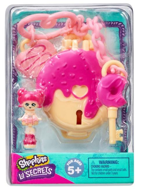 Shopkins Shoppies Lil' Secrets Secret Bag Tag Delish Donut Stop with Donatina Micro Playset