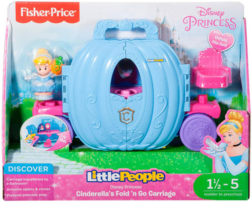 Fisher Price Disney Princess Little People Cinderella's Fold 'n Go Carriage Playset