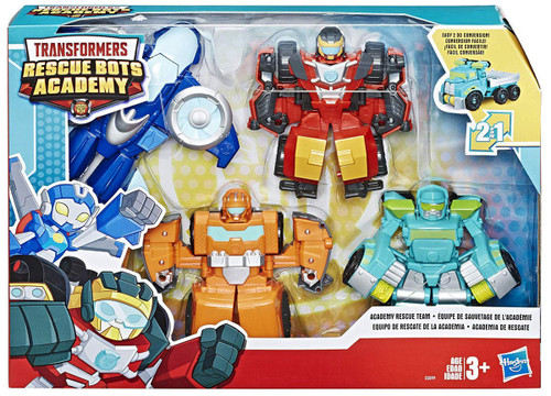 Transformers Playskool Heroes Rescue Bots Academy Academy Rescue Team Action Figure [Hot Shot, Whirl, Wedge & Hoist ]
