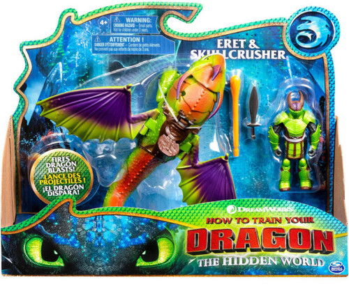 How to Train Your Dragon The Hidden World Eret & Skullcrusher Action Figure 2-Pack