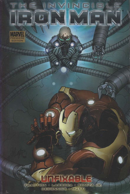 Marvel The Invincible Iron Man Unfixable Hard Cover Comic Book #8 [Sun Damage on Spine]