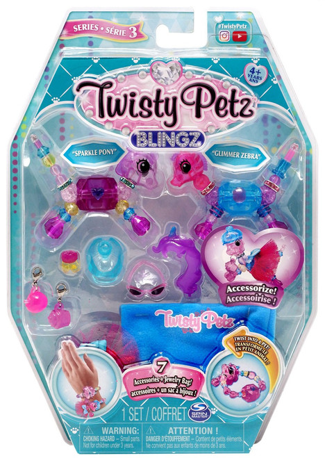 Twisty Petz Blingz Series 3 Sparkle Pony & Glimmer Zebra 2-Pack Set