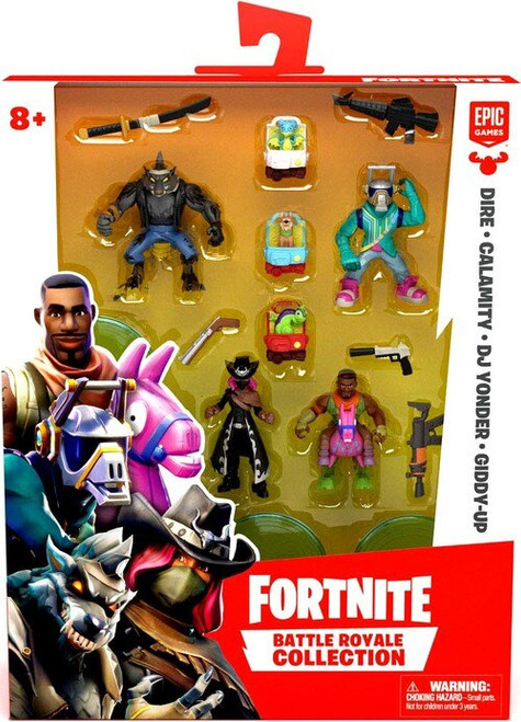 Fortnite Battle Royale Collection Dire, Calamity, DJ Yonder & Giddy-Up 2-Inch Mini Figure 4-Pack