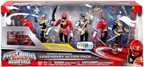 Power Rangers Super Megaforce Legendary Action Pack Exclusive Action FIgure 6-Pack