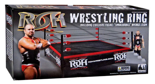 ROH Wrestling Ring of Honor Wrestling Ring Playset [Michael Elgin Figure, Damaged Package]