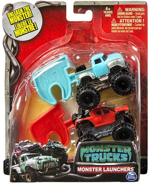 Monster Trucks Monster Launchers Big Ugly Ragin Red Vehicle Spin Master Toywiz
