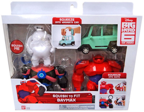 Disney Big Hero 6 The Series Squish to Fit Baymax Figure Set [Damaged Package]