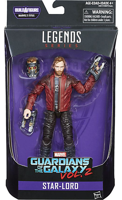 Guardians of the Galaxy Vol. 2 Marvel Legends Titus Series Star-Lord Action Figure [Damaged Package]
