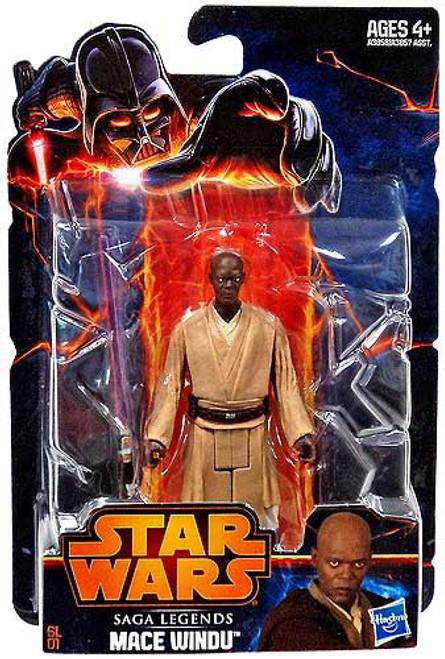 Star Wars Revenge of the Sith Saga Legends 2013 Mace Windu Action Figure SL01 [Damaged Package]