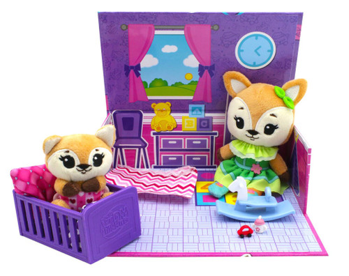 Tiny Tukkins Fox Cuddle 'n' Play Den Core Pack