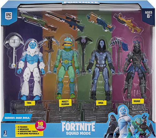 Fortnite Squad Mode Ravage, Omen, Moisty Merman & Trog Action Figure 4-Pack