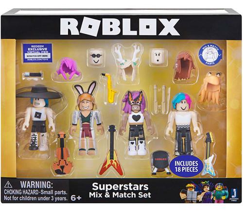 Roblox Mix & Match Superstars 3-Inch Figure 4-Pack Set
