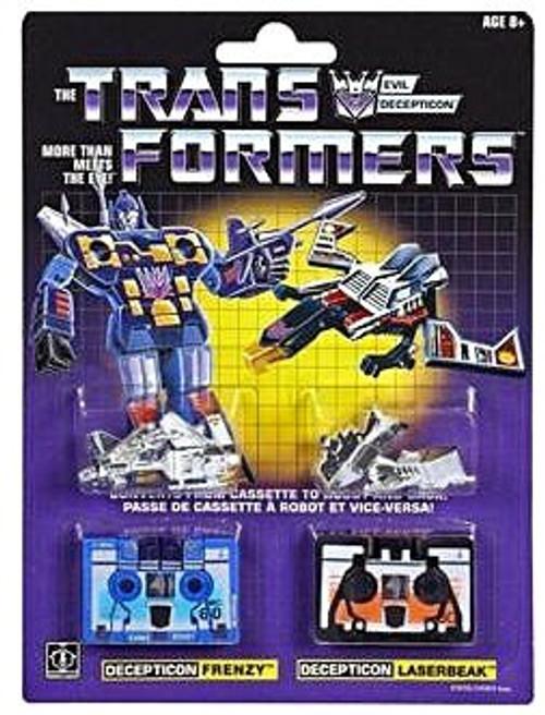 Transformers G1 Reissue Cassette Frenzy & Laserbeak Figure 2-Pack