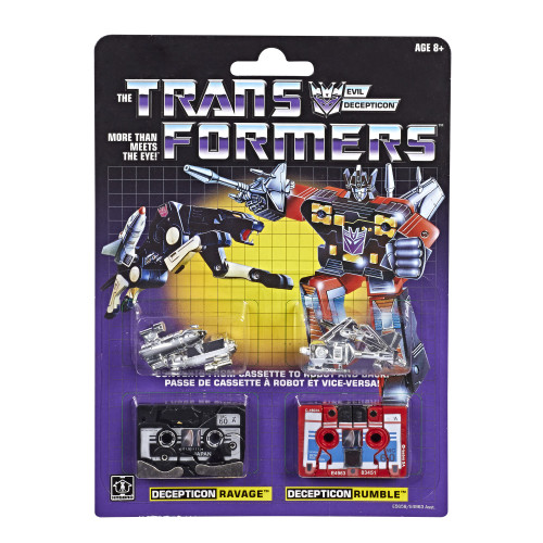 "Transformers G1 Reissue Cassette Ravage & Rumble 1.8-Inch 1.8"" Figure 2-Pack"