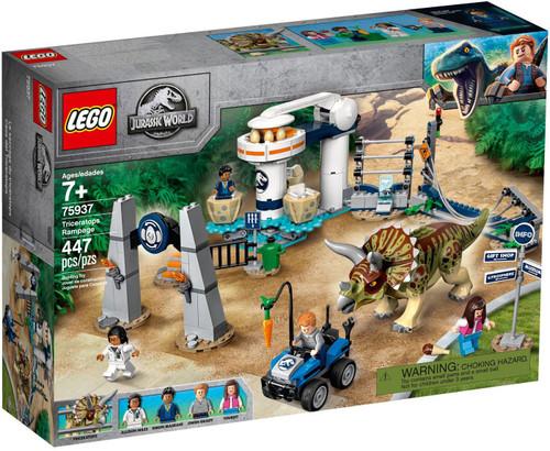 LEGO Jurassic World Triceratops Rampage Set #75937