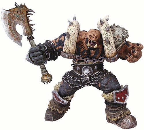 World of Warcraft Premium Series 3 Garrosh Hellscream Action Figure [Orc Warchief, Severely Damaged Package]