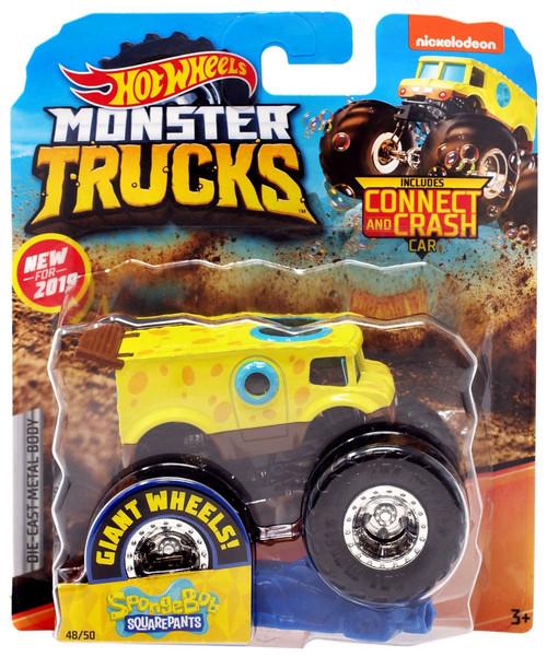 Hot Wheels Monster Trucks Spongebob Squarepants Diecast Car [Blue Crushable Car]