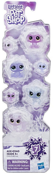 Littlest Pet Shop Frosted Wonderland Purple Collection Figure 7-Pack