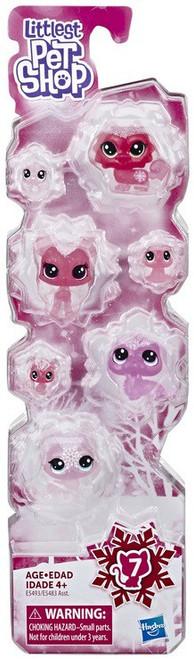 Littlest Pet Shop Frosted Wonderland Pink Collection Figure 7-Pack