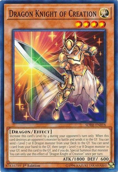 YuGiOh Structure Deck: Rokket Revolt Common Dragon Knight of Creation SDRR-EN018