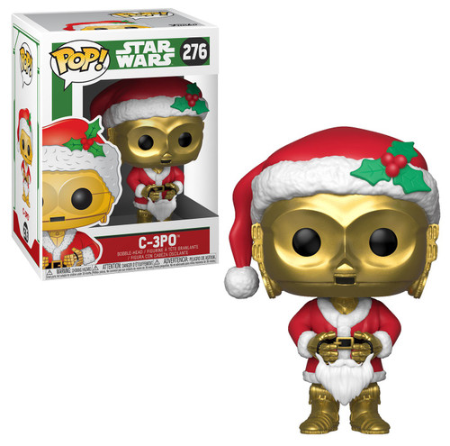 Funko POP! Star Wars C-3PO Vinyl Bobble Head #276 [Holiday, Santa, Damaged Package]