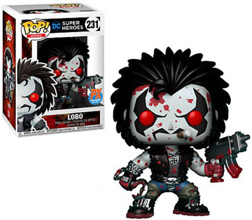 Funko DC POP! Heroes Lobo Exclusive Vinyl Figure #231 [Bloody Version, Damaged Package]