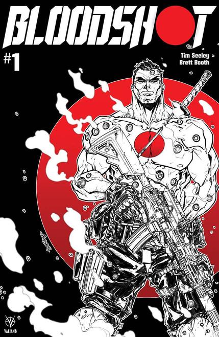 Valiant Comics Bloodshot #1 Comic Book [Jonboy Meyers Black, White & Red Cover D]