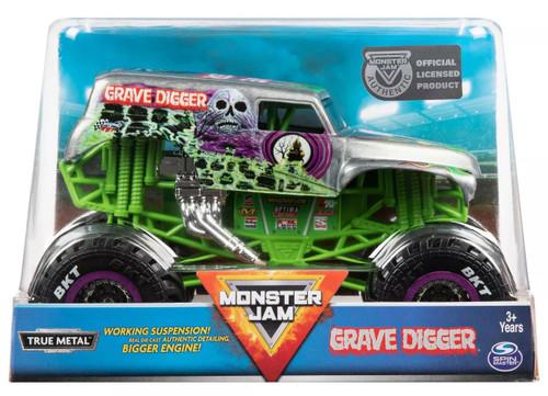 Monster Jam True Metal Grave Digger Diecast Car [Silver & Green]