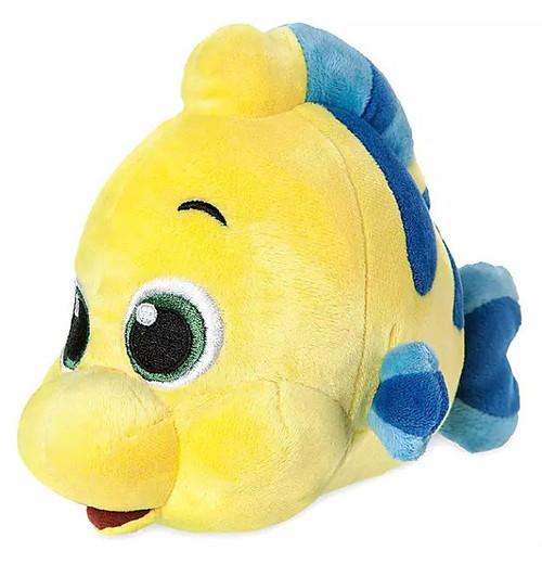Disney The Little Mermaid Flounder Exclusive 6-Inch Mini Bean Bag Plush