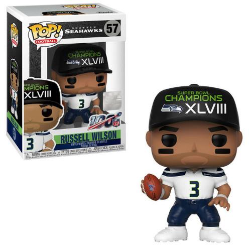 Funko NFL Seattle Seahawks POP! Sports Football Russell Wilson Vinyl Figure #57 [SB Champions XLVIII]