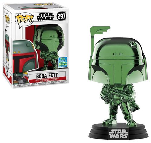 Funko POP! Star Wars Boba Fett Exclusive Vinyl Bobble Head #297 [Green Chrome]