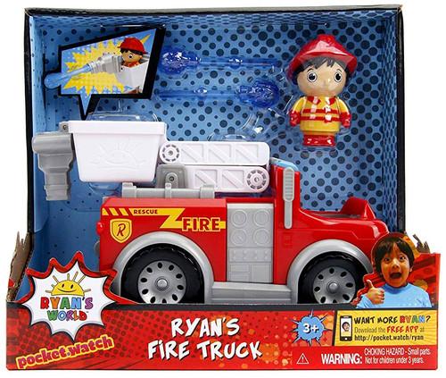 Pocket Watch Ryan's World Ryan's Fire Truck Figure & Vehicle